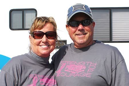 Beth Peterman and Pete Peterman at Race for a Cure